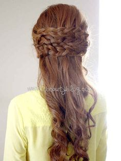 The Half Crown Braid | 31 Gorgeous Wedding Hairstyles You Can Actually Do Yourself