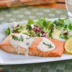 Salmon with Creole Mustard Sauce - Salu Salo Recipes