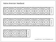 Native American headband template
