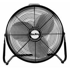 Air King 9218 18 3190 CFM 3-Speed Industrial Grade Floor Fan, Black