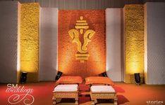 Traditional Haldi Setup by SM Weddings-New Delhi. #haldidecor #simplehaldidecor #haldidecoration #besthaldidecor #haldidecorideas #haldi #indianhaldidecor #traditionalhaldidecor #indianwedding #indianweddingdecor #weddingdecor #southindianwedding #northindianwedding #indiandecor Wedding Backdrop Design, Desi Wedding Decor, Wedding Mandap, Wedding Stage Decorations, Backdrop Decorations, Engagement Stage Decoration, Marriage Decoration, Ganpati Decoration Design, Flower Decoration