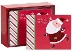 Ho, Ho, Ho Skating Santa Boxed Cards
