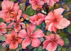 Carole Byers - Hibiscus Humming Birds