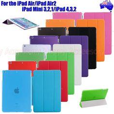 Premium Smart Cover + Back Case for Apple iPad Air 2   iPad Mini   iPad 4,3,2