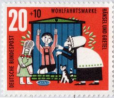 German stamps based on classic fairy tales. Click through for more.