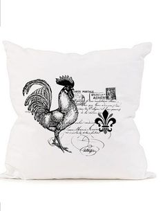 French digital download image French writing rooster by graphic
