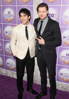 #Glee's @Darren Criss and chordoverstreet at the Family Equality Awards Dinner. 3/01/15