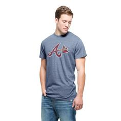 Atlanta Braves '47 Tri-Blend State T-Shirt - Navy - $33.99