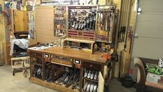 Tool cabinet and bench