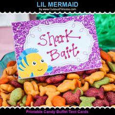 Glittery Lil Mermaid Birthday Party ideas!  by Curious Princess at www.CuriousPrincess.com