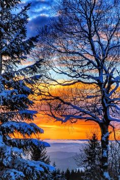 Over the hills and far away Winter Sunset, Winter Scenery, Winter Trees, Winter Pictures, Nature Pictures, Cool Pictures, Beautiful Pictures, Beautiful World, Beautiful Places