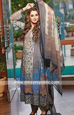 Arzo Embroidered Lawn Suit Prices 2014 Ajwa Textile  Volume 1 of Arzo Embroidered Lawn Suits 2014 by Ajwa Textile at Affordable Prices in Chicago, Illinois, USA. by www.dressrepublic.com