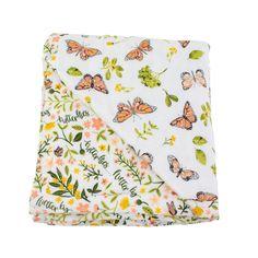 Butterfly + Flutterby Muslin Snuggle Blanket | Super Soft Bamboo Blend Blanket – Bebe au Lait Butterfly Baby Room, Muslin Blankets, Baby Blankets, Dandelion Yellow, Snuggle Blanket, Bright Decor, Toddler Blanket, Little Unicorn, Girl Nursery
