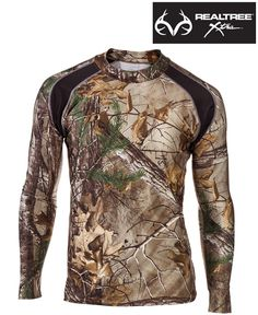 #NEW The RedHead #RealtreeXtra #Camo Enduraskin All-Season Long-Sleeve Mock Shirts for Men feature AXE Anti-Odor Technology and 4-way stretch fabric that works well as a base layer in cold temperatures or all by itself in warmer temperatures. $34.99