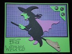 halloiween cards with witches - Google Search