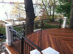 Beautiful exotic hardwood deck.