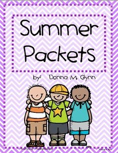 *** UPDATED FOR SUMMER 2014*****Are you looking for something to send home to reinforce skills over the summer.  This packet is your answer.  It has a calendar with an activity to complete each day (except on the weekends) for each month.  There is a recording sheets so they can write their answers.