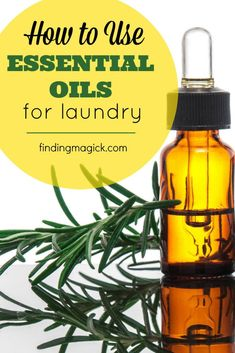 Essential Oils for Laundry - Super simple recipe and method for fresh-smelling laundry in your home!