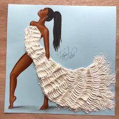 Dress made of flour by Edgar Artis.  I love the texture!