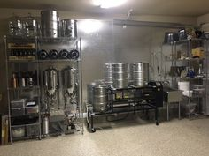 Homebrewing room My new garage Brewery in Alamo Ranch, San Antonio Texas Brew Your Own Beer, Brewing Supplies, Brewery Design, Beer Brewing Kits, Home Brewing Equipment, Home Brewery, Beer Recipes, Brewing Recipes, Coffee Recipes