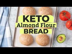 A healthy keto bread roll made with almond flour. This simple recipe makes light and airy low carb bread rolls, perfect for making sandwiches. Keto Almond Bread, Coconut Flour Bread, Almond Flour Recipes, Best Low Carb Bread, Lowest Carb Bread Recipe, Gluten Free Hamburger Buns, Comida Keto, Paleo, Bread Rolls