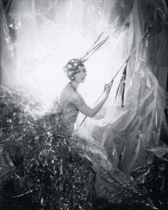 "I have a print of this Cecil Beaton photograph, ""Nancy Beaton as a shooting star."" Reminiscent of Jeanne d'Alcy as a star in the Melies film."