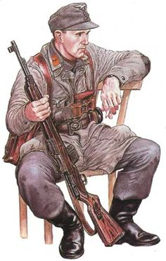 LUFTWAFFE - Fallshirmjaeger della 5. Divisione, Ostfront 1945