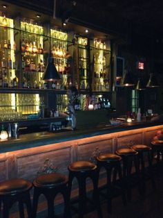 Above one of the bro-iest bars in the world, this hidden gem is a Jamaican pool hall with fun drinks in coconuts. Try to get a booth by the pool table becase the narrow aisle by the bar gets packed. http://www.yelp.com/biz/kingston-hall-new-york
