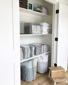 Simply Done: The Most Beautiful - and Organized! - Linen Closet #closetstorage