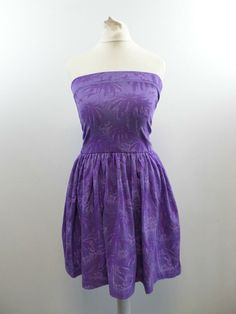 BRAND NEW  EX M/&S  ULTRA-VIOLET Long Sleeve Jersey Swing Dress