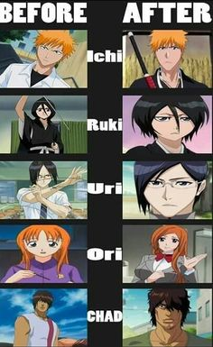 Bleach before and after