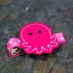 Felties  Sea Octopus Feltie Hair Clip  Octopus by LilSugarShoppe, $3.00