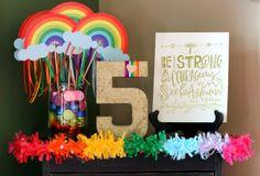 I DO invitations by michelle: Cami's Rainbow Dash {My Little Pony} 5th Birthday Party #rainbow #rainbowwands