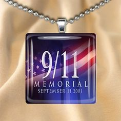 9/11 Memorial Glass Pendant w necklace choice or keychain