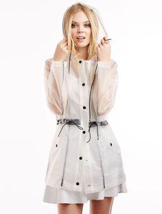 60 - raincoat Glamorous Ruby Ruby Matt Clear