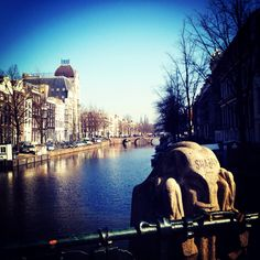 Keizergracht in Amsterdam. Our office islocated in the tall grey building in the picture.