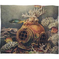 Terry Fan Sea Change Fleece Throw Blanket | DENY Designs Home Accessories
