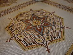 mosaic floor at French Lick Springs Resort