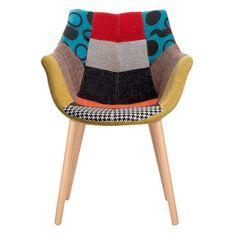 Fauteuil en tissu finition patchwork gris eleven zuiver deco maison pinterest fauteuils - Chaise eleven patchwork colors ...
