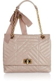 d90a1afdcf7 LANVIN Brown The Happy Medium Quilted Leather Shoulder Bag - Lyst New  Handbags, Fashion Handbags