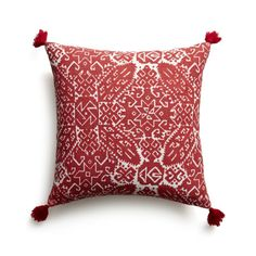 """Navidad 16"""" Pillow with Feather-Down Insert    Crate and Barrel"""
