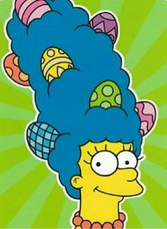 """Easter Card The Simpsons Marge""""Have an Extra-Marge, Grade A Easter"""" The Simpsons Show, Egg For Hair, Homer Simpson, Greeting Cards, Easter Greeting, Easter Card, Cute Art, Party Supplies, Stationery"""