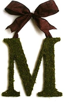 I like the idea of Moss covered letters..Blog | A Southern Tradition