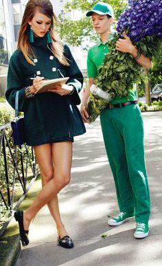 """In Love With the City"" : Karlie Kloss : Vogue Japan September 2011 : Arthur Elgort"