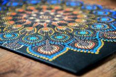 Acrylic Dot Mandala en Canvas | Etsy Mandala Canvas, Primary Colors, Dots, Handmade, Pictures, Painting, Blue Nails, Dot Painting, Canvases
