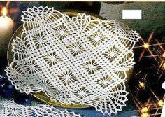 As Receitas de Crochê: Toalhinha de bandeja de croche