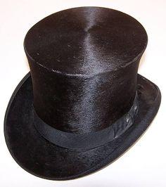 3c7fac1d156 Victorian Bent   Bush Boston Black Beaver Gentlemen s Opera Top Hat