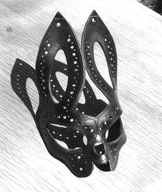 Unique Molded Leather Bunny Rabbit Mask by LeCordonnier on Etsy, $75.00