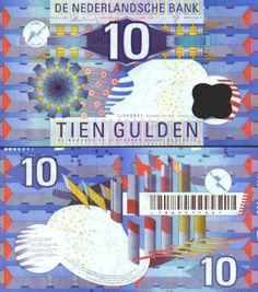 1997 laatste 10 gulden biljet, ontworpen door Jaap Drupsteen - IJsvogel