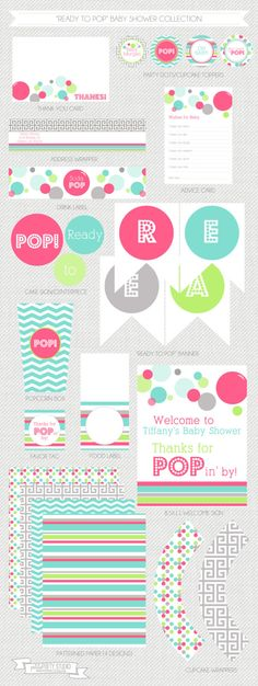 Ready to Pop Baby Shower Printable Party by PetitePartyStudio